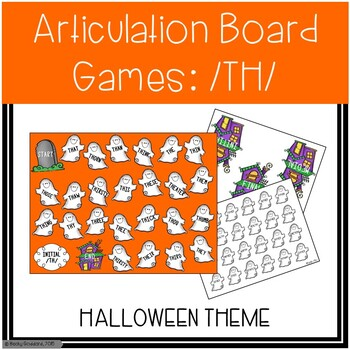 /TH/ Articulation Board Games - Halloween Theme