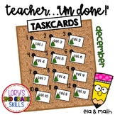 "#thriftythursday ""Teacher, I'm Done!"" Task Cards for Dec -"