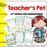 Teacher's Pet NO PREP ELA Printables for 2nd Grade