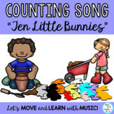 """Literacy Activity Song:""""Ten Little Bunnies"""" with Drama, Wr"""