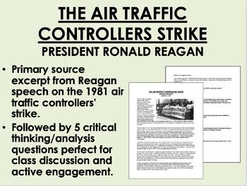 """The Air Traffic Controllers Strike (1981)"" - Ronald Reaga"