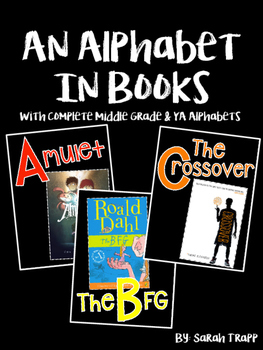 """""""Alphabet in Books"""" Posters"""