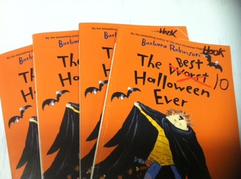 """The Best Halloween ever"" books, by Barbara Robinson - Lit"