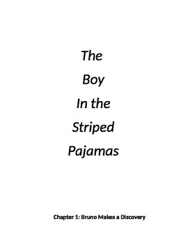 """The Boy in the Striped Pajamas"" novel unit"