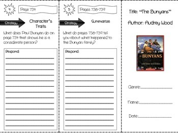 """""""The Bunyans"""" Comprehension Trifold (Storytown Lesson 28)"""