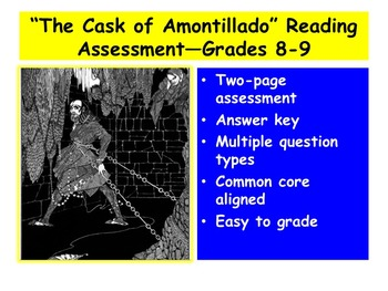 """The Cask of Amontillado"" Reading Assessment—Grades 8-9"