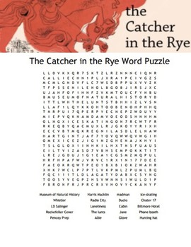 """The Catcher in the Rye"" Word Search"
