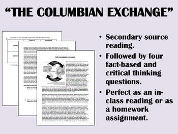 """""""The Columbian Exchange"""" - Global/World History"""