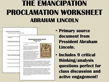 """The Emancipation Proclamation"" - Abraham Lincoln - Civil"