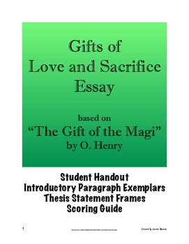 """""""The Gift of the Magi"""" Essay - Gifts of Love and Sacrifice"""