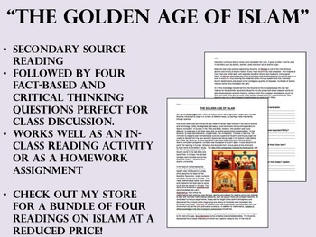 """""""The Golden Age of Islam"""" reading/questions - Global/World"""