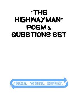 """""""The Highwayman"""" - Poem & Question Set"""