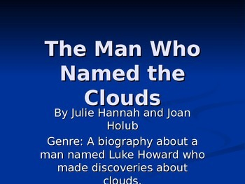 """The Man Who Named the Clouds"" Reading Street 2011"