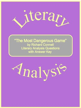 """The Most Dangerous Game"" Literary Analysis Questions with"