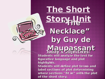 """The Necklace"" by Guy De Maupassant - PowerPoint Presentat"