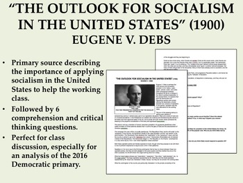 """""""The Outlook for Socialism in the United States"""" - Eugene"""