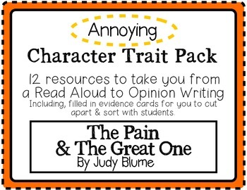 """""""The Pain and The Great One"""" Character Traits Pack: Annoying"""
