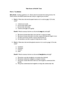 """""""The Power of W.O.W"""" Test AND Constructed Response - CCSS Aligned"""