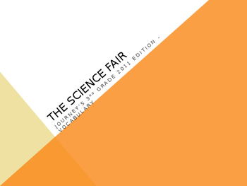 """""""The Science Fair"""" from Ramona Quimby, Journey's 3rd Grade"""