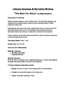 """The Shot for Glory"" Poetry Analysis & Narrative Essay"