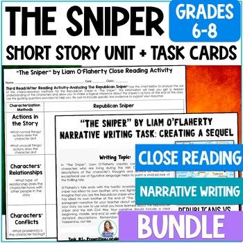 """The Sniper"" Bundle- Close Reading & Narrative Writing Uni"
