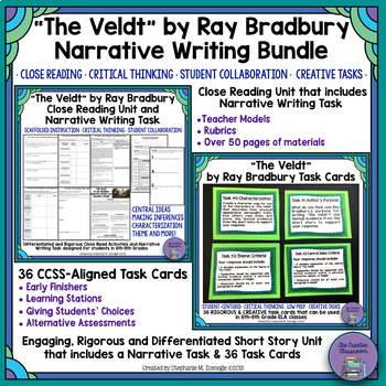 """The Veldt"" Bundle- Close Reading & Narrative Writing with"