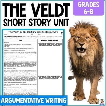 """The Veldt"" by Ray Bradbury Close Reading & Argumentative"