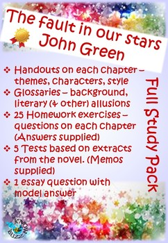 'The fault in our stars' by John Green - Complete study pack