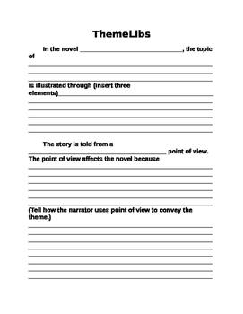 """""""ThemeLibs"""" Theme Essay Template"""