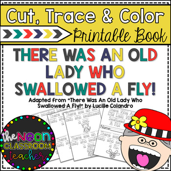 """""""There Was an Old Lady Who Swallowed a Fly"""" Cut, Trace & C"""