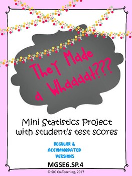 """They Made a Whaaaat?"" Mini Statistics Project for 6th Grade"