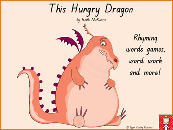 """""""This Hungry Dragon"""" rhyming words games and vocabulary ac"""