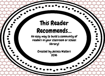"""This Reader Recommends"" Bookmarks"