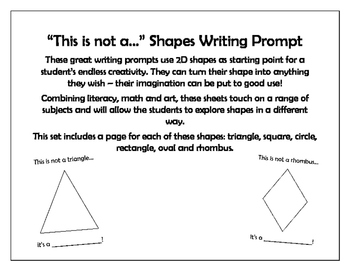 """""""This is not a...."""" Shapes Writing Prompt"""