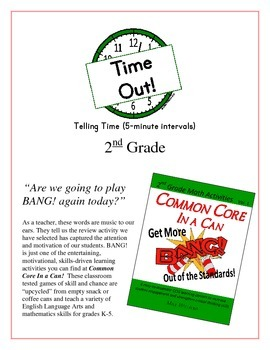 """Time Out!"" 5-Minute Intervals 2nd Grade Common Core Game Packet"