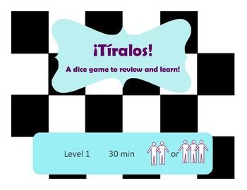 ¡Tíralos! Reflexive Verb Dice Game Así Se Dice Chapter 11
