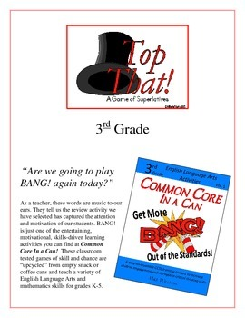 """""""Top That!"""" Comparatives & Superlatives 3rd Grade Common C"""