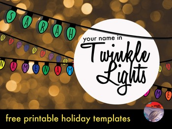 """""""Twinkle Lights""""  Holiday Art Activity - FREE!"""