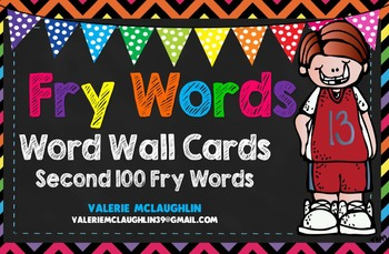 **UPDATED FILE**FRY WORDS ~ FREEBIE~ Second 100 Fry Words