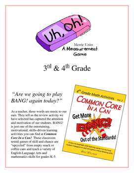"""""""Uh, Oh!: Metric Measurement Units 3rd & 4th Grade  Common"""
