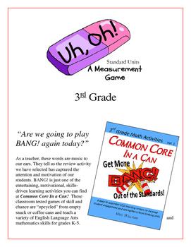 """Uh, Oh!"" Standard Measurement Units 3rd Grade Common Core"
