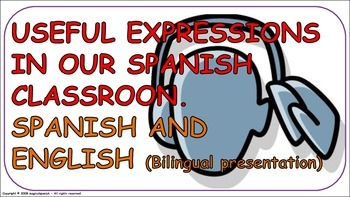 """""""Useful Expression in our Spanish class"""" Flashcards -PDF ("""