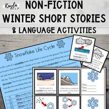 {WINTER} Short Stories + Language Activities!