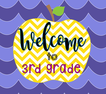 """Welcome to 3rd Grade"" logo"