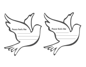 """""""What Does Peace Feel Like"""" Activity Sheet"""
