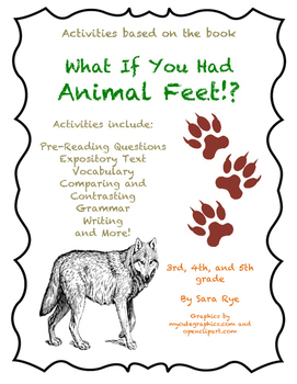 """""""What If You Had Animal Feet!? by Sandra Markle Activity Packet"""