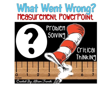 """""""What Went Wrong?"""" Read Across America themed Measurement"""