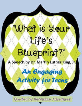 """""""What is Your Life's Blueprint?"""" Lesson Activity"""
