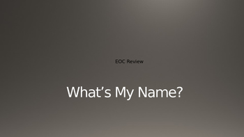 """""""What's My Name?"""" US History STAAR EOC Review"""