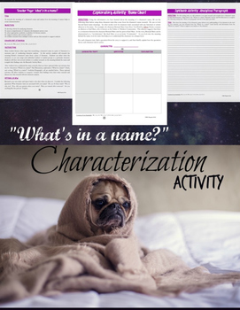 Character Names:  Literary Elements, Characterization, & A